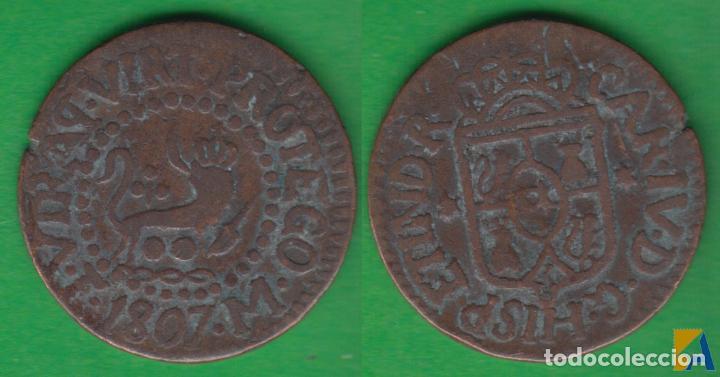 carlos iv. 1 cuarto de 1807. manila. - Comprar Monedas de Reyes ...