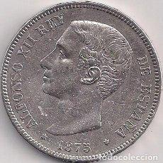 Monedas de España: ESPAÑA - ALFONSO XII - 5 PESETAS 1875 DE M *18-75 ESTRELLAS LEGIBLES. Lote 100177231