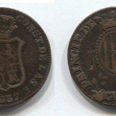 Monedas de España: ISABEL II, 3 CUARTOS 1837, PUNTOS DE LA LEYENDA FINOS. Lote 100719111