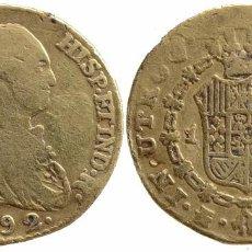 Monedas de España: CARLOS IV 1 ESCUDO 1792-MF MADRID. Lote 110404375