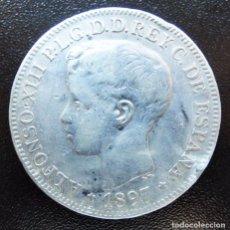 Monedas de España: UN PESO ALFONSO XIII 1897 ISLAS FILIPINAS MANILA. Lote 101241691