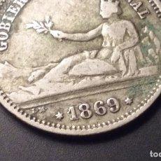 Monedas de España - MONEDA PLATA UNA PESETA GOBIERNO PROVISIONAL 1869 - 101771923