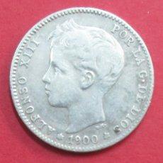 Monedas de España: ALFONSO XIII. MONEDA DE 1 PESETA DE 1900. *1. PLATA.. Lote 101973503