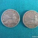 Monedas de España: 2 MONEDAS DE PLATA 1870. Lote 107914108