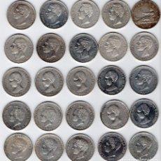 Monedas de España: LOTE DE DUROS DE PLATA 25 PIEZAS DIFERENTES, ESTADO MBC+ A EBC+ INCLUIDO EL DURO DE PLATA FILIPINAS. Lote 102297631