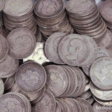 Monedas de España: LOTE DE 25 MONEDAS DE 5 PESETAS. PLATA! INVERSIÓN DUROS. Lote 102644075
