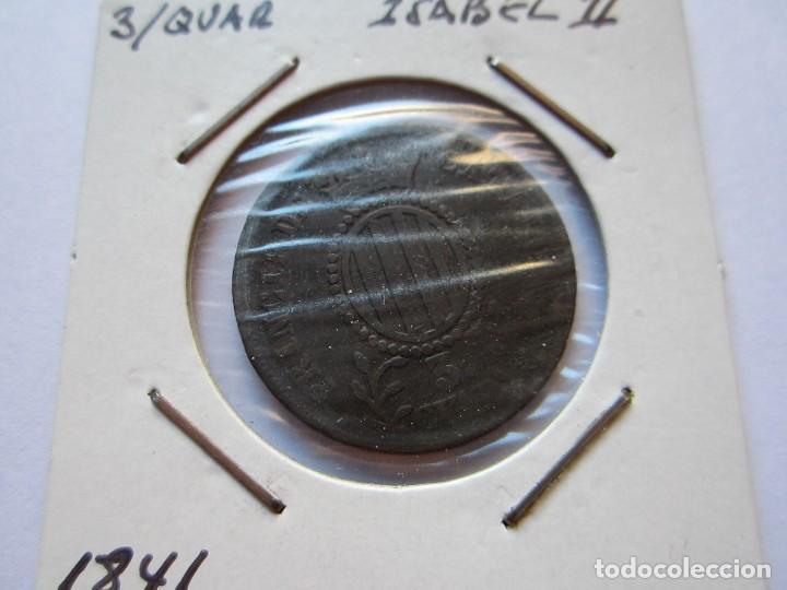 MONEDA DE 3/4 DE ISABEL II 1841 CATALUÑA MBC (Numismática - España Modernas y Contemporáneas - De Isabel II (1.834) a Alfonso XIII (1.931))