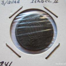Monedas de España: MONEDA DE 3/4 DE ISABEL II 1841 CATALUÑA MBC. Lote 102736567