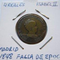 Monedas de España: MONEDA DE 4 REALES DE ISABEL II 1848 MADRID MUY RARA MBC+. Lote 102740727