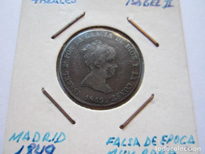 MONEDA DE 4 REALES DE ISABEL II 1849 MADRID MUY RARA MBC+ (Numismática - España Modernas y Contemporáneas - De Isabel II (1.834) a Alfonso XIII (1.931))