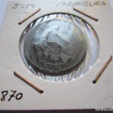 Monedas de España: MONEDA 5 CÉNTIMOS DE LA 1ª REPÚBLICA 1870 MBC. Lote 102745143