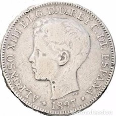 Monedas de España: ALFONSO XIII. MANILA. PESO. 1897. SGV MBC-/MBC. Lote 136526713
