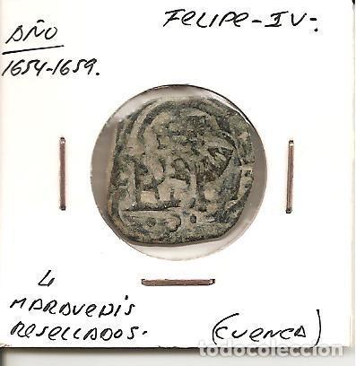 RARA MONEDA FELIPE IV 1654-1659 CECA (CUENCA) 4 MARAVEDÍS RESELLADOS (COBRE). MBC (Numismática - España Modernas y Contemporáneas - De Reyes Católicos (1.474) a Fernando VII (1.833))