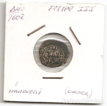MUY BUSCADA MONEDA FELIPE III 1602 CECA MUY RARA (CUENCA C) 2 MARAVEDÍS (COBRE) . MBC (Numismática - España Modernas y Contemporáneas - De Reyes Católicos (1.474) a Fernando VII (1.833))