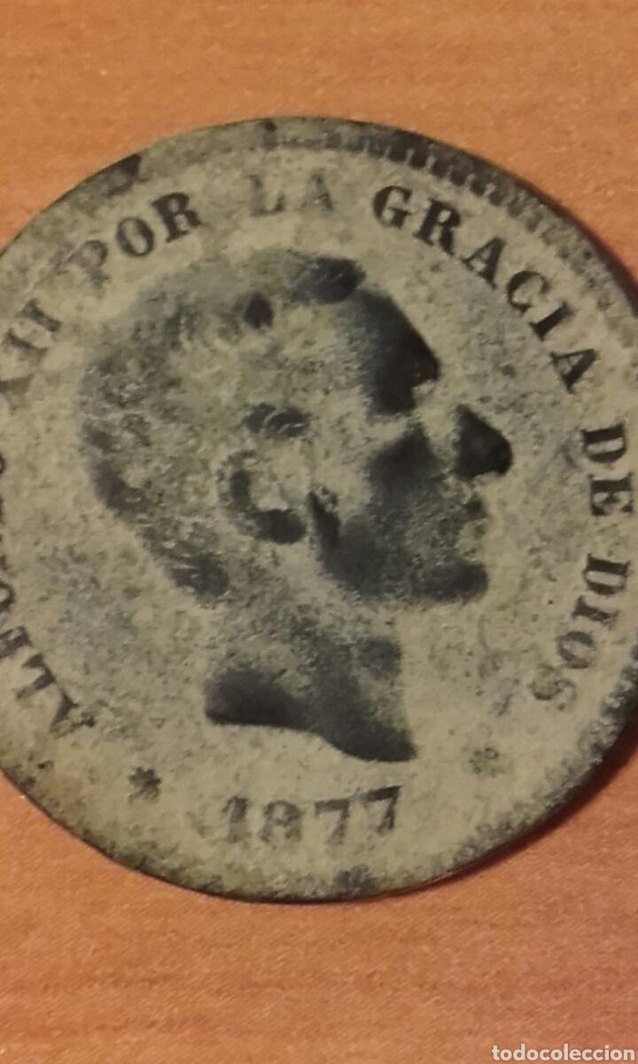 MONEDA 1159 - ESPAÑA 5 CÉNTIMOS 1877 BARCELONA - REY DE ESPAÑA ALFONSO XII (Numismática - España Modernas y Contemporáneas - De Isabel II (1.834) a Alfonso XIII (1.931))