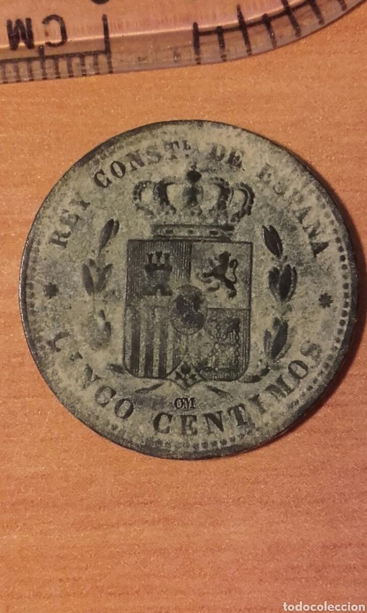 Monedas de España: MONEDA 1159 - ESPAÑA 5 céntimos 1877 Barcelona - Rey de España Alfonso XII - Foto 4 - 102844475