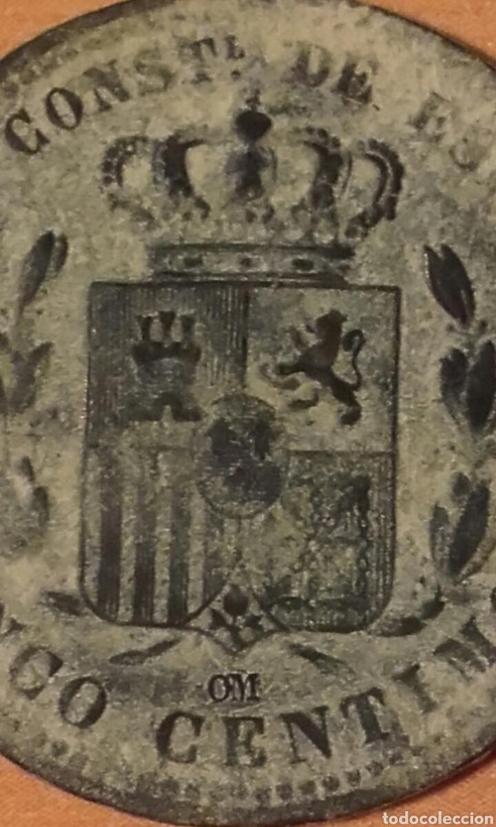 Monedas de España: MONEDA 1159 - ESPAÑA 5 céntimos 1877 Barcelona - Rey de España Alfonso XII - Foto 6 - 102844475