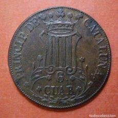 Monedas de España: ISABEL II - 6 CUARTOS DE CATALUÑA 1841. Lote 102968323