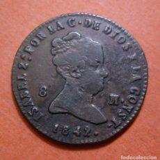 Monedas de España: ISABEL II - 8 MARAVEDIS 1842 SEGOVIA. Lote 103070155