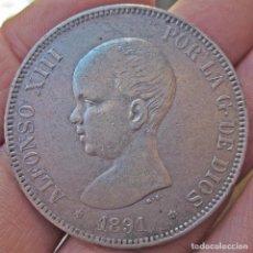 Monedas de España: DURO 5 PESETAS 1891 (*18*91). ALFONSO XIII. PELÓN. Lote 103124283