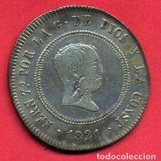 Monedas de España: MONEDA PLATA , 10 REALES FERNANDO VII , 1821 , RESELLADO MADRID , MBC- , ORIGINAL , A20. Lote 103405463