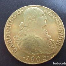 Monedas de España: MONEDA ORO DE 8 ESCUDOS DE CARLOS IIII AÑO 1805.. Lote 103718907