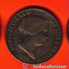 Monedas de España: ISABEL II - ESPAÑA - 25 CENTIMOS DE REAL 1855 EBC . Lote 103821335