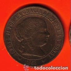 Monedas de España: ISABEL II - ESPAÑA - 2 1/2 CENTIMOS DE ESCUDO 1868 EBC ESCASA. Lote 103821423