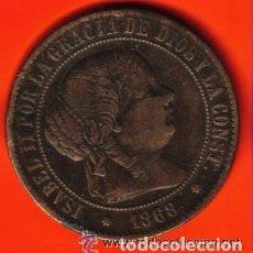 Monedas de España: ISABEL II - 5 CENTIMOS DE ESCUDO 1868 EBC . Lote 103822247