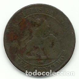Monedas de España: GOBIERNO PROVISIONAL - 10 CENTIMOS 1870 - Foto 2 - 103822399