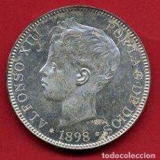 Monedas de España: MONEDA 5 PESETAS ALFONSO XIII, 1898 ,ESTRELLAS VISIBLES 18 98 ,DURO PLATA , EBC SC ,ORIGINAL, D2486. Lote 104005575