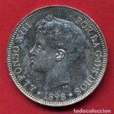 Monedas de España: MONEDA 5 PESETAS ALFONSO XIII, 1898 ,ESTRELLAS VISIBLES 18 98 ,DURO PLATA , EBC SC ,ORIGINAL, D2489. Lote 104005695