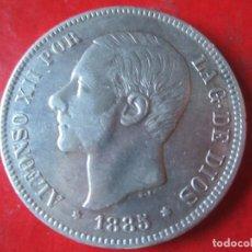 Monedas de España: 5 PTA DE PLATA. ALFONSO XII. 1885 *85. Lote 104067307
