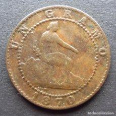Monedas de España: 1 CENTIMO DE 1870 ••• BUENA CONSERVACION+++ ••• GOBIERNO PROVISIONAL. Lote 104239919