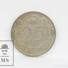 Monedas de España: MONEDA ALFONSO XIII 1925 - 25 CÉNTIMOS PCS NIQUEL - CONSERVACIÓN MBC. Lote 104297383