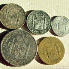 Monedas de España: ALFONSO XII - 5 FALSAS DE EPOCA. Lote 104764799