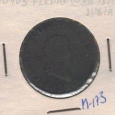 Monedas de España: FERNANDO VII. 1820. OCHO MARAVEDÍS DE JUBIA.M173. Lote 105356835