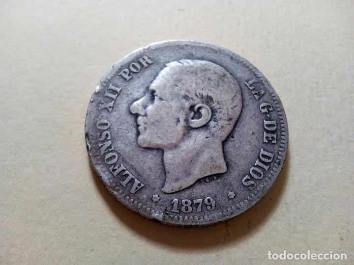 MONEDA 2 PESETAS ALFONSO XII PLATA 1879 (Numismática - España Modernas y Contemporáneas - De Isabel II (1.834) a Alfonso XIII (1.931))