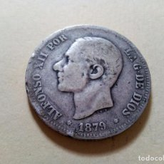 Monedas de España: MONEDA 2 PESETAS ALFONSO XII PLATA 1879. Lote 105764279