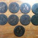Monedas de España: LOTE 9 MONEDAS DE ESPAÑA - 2 CENTIMOS DEL AÑO 1870 - MBC/MBC+.. Lote 106037547