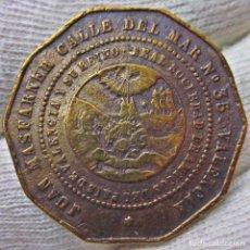Monedas de España: SOCIEDAD ECONÓMICA DE AMIGOS DEL PAIS. MUY RARO JETÓN PUBLICITARIO. MASFARNER - VALENCIA. S. XIX. Lote 106535131