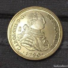 Monedas de España: 8 ESCUDOS CARLOS IV 1790 SEVILLA RÉPLICA . Lote 106663811
