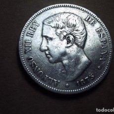 Monedas de España: BONITA PIEZA DE 5 PESETAS PLATA DE ALFONSO XII. 1875. E. 75. EBC.. Lote 106938355