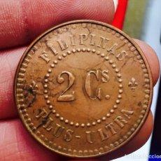 Monedas de España: ISABEL II 2 CENT 1859 FILIPINAS MUY RARA. Lote 107043700