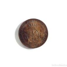 Monedas de España: ISABEL II .- 1 CENTIMO DE ESCUDO 1868 SEVILLA.. Lote 221577916