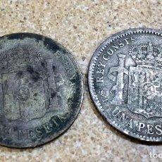 Monedas de España: LOTE DOS MONEDAS DE PLATA UNA PESETA 1903 Y 1904. Lote 175978692