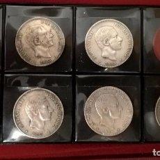 Monedas de España: LOTE DE 7 MONEDAS DE 50 CENTAVOS DE PESO DE 1885. FILIPINAS, MANILA. MBC+-EBC. Lote 107788179