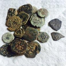 Monedas de España: LOTE DE MONEDA MEDIEVAL INCLUYENDO 2 MAQUKINAS DE PLATA. Lote 107859916