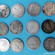 Monedas de España: LOTE DE 12 MONEDAS, 5 PESETAS , VARIADOS , DUROS FALSOS O REPLICAS , NO SON DE PLATA . Lote 108816399