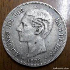 Monedas de España: 5 PESETAS DE PLATA 1878 *18 *78 ALFONSO XII. Lote 108933447